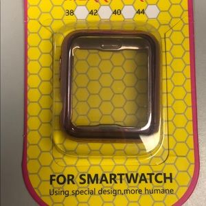 Rose gold iwatch case